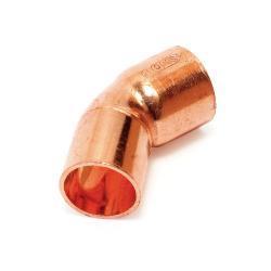 curva fontaneria 45º m-h 15mm cobre curva fontan 45§m-h 15 cobre sth sth - Imagen 1