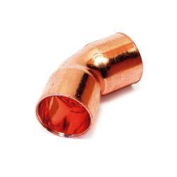 curva fontaneria 45º h-h 18mm cobre curva fontan 45§ h-h 18 cobre sth sth - Imagen 1