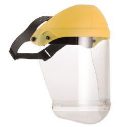 Proteccion facial flexible amarillo pvc - Imagen 1