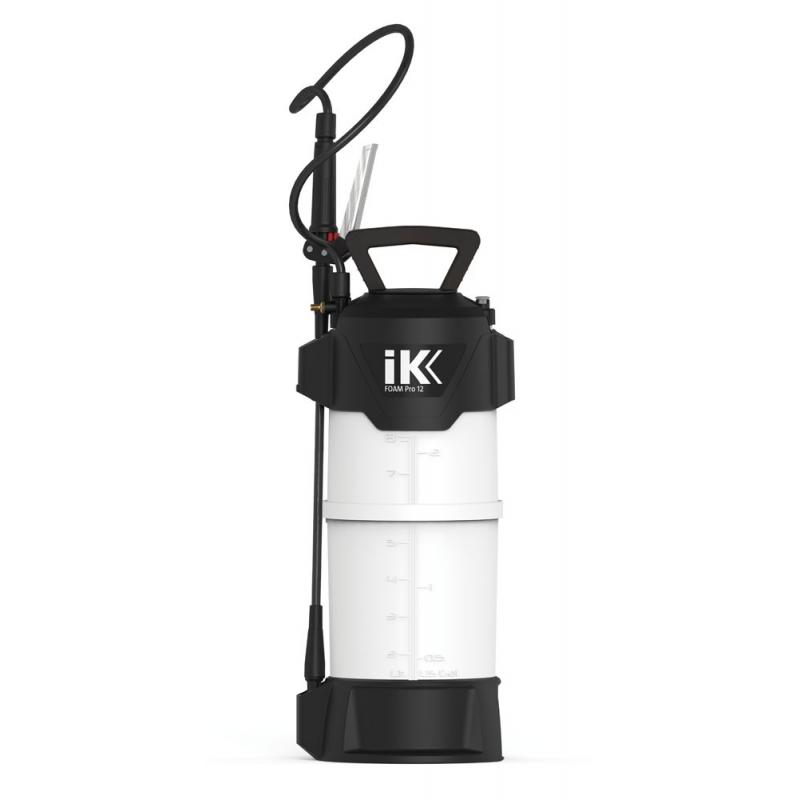 Pulverizador plastico profesional 10L 12 boquillas regulable blanco y negro - Imagen 1