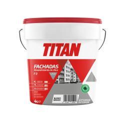 Pintura revestimiento fachadas acrilico liso blanco mate 4 L TITAN - Imagen 1