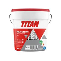Pintura acrilica blanco mate fachadas 15L TITAN - Imagen 1