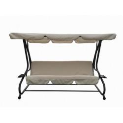 Balancín blanco convertible en cama 125x230x170cm NATUUR