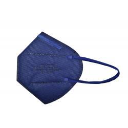 Mascarilla proteccion FFP2 plegada 5 capas azul marino - Imagen 1