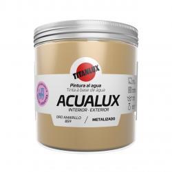 Pintura manualidades al agua 250ml acualux amarillo oro TITANLUX - Imagen 1