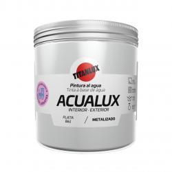 Pintura manualidades al agua 250ml acualux plata TITANLUX - Imagen 1