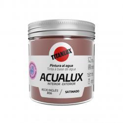 Pintura manualidades al agua 250ml acualux rojo intenso TITANLUX - Imagen 1