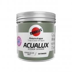Pintura manualidades al agua 250ml acualux verde oliva TITANLUX - Imagen 1