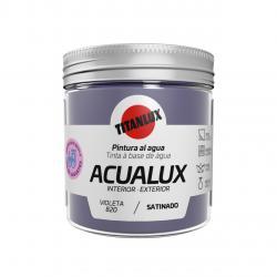 Pintura manualidades al agua 250ml acualux violeta TITANLUX - Imagen 1