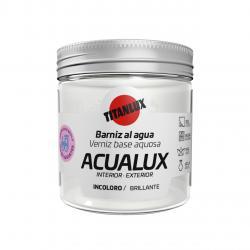 Barniz brillante al agua manualidades rayos UV 75 ml acualux TITANLUX - Imagen 1