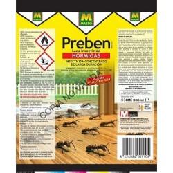Insecticida hormigas concentrado larga duración PREBEN
