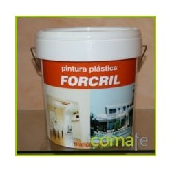 PINTURA PLASTICA FORCRIL BLANCO-MATE 10 LT. - Imagen 1