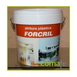 PINTURA PLASTICA FORCRIL BLANCO-MATE 15 LT. - Imagen 1