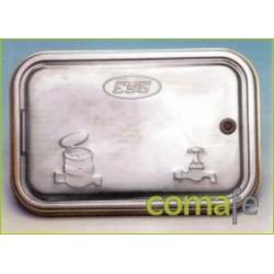 PUERTA C/CERRADURA 370X240 ZINC - Imagen 1