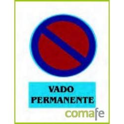 "CARTEL PVC 40X30""VADO PERM""251 - Imagen 1"