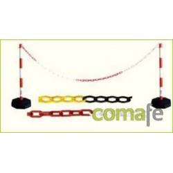 CADENA PLASTICO BLANCO/ROJO 7,5MM.25MT.1127 - Imagen 1