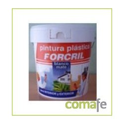PINTURA PLASTICA FORCRIL BLANCO-MATE 04 LT. - Imagen 1