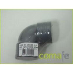 CODO 87 H-H EVACUACION PVC 40MM 804014 UNIDAD - Imagen 1