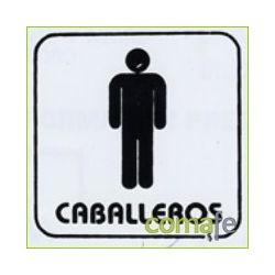"""PLACA PICTOGRAMA """"CABALLEROS"""" 11X11 P6 UNIDAD - Imagen 1"""