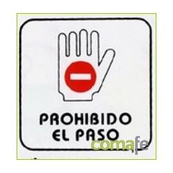 """PLACA PICTOGRAMA """"PROHIBIDO PASO"""" 11X11 P2 UNIDAD - Imagen 1"""