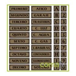 """PLACA PISOS """"PUERTA 2"""" PN2 UNIDAD - Imagen 1"""