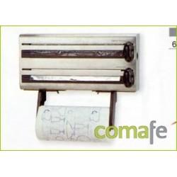 PORTARROLLO COCINA TRIPLE INOX 18/10 60701 UNIDAD - Imagen 1