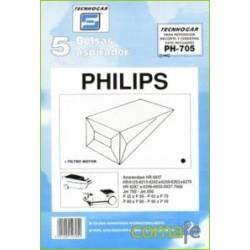 BOLSA ASPIRADOR PHILIPS AMST.5P.705 - Imagen 1