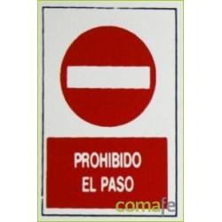 """PLACA""""PROHIBIDO PASO""""30X20 H1 UNIDAD - Imagen 1"""