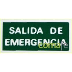 PLACA FOTOLUMINISCENTE  SALIDA EMERGENCIA EF12 UNIDAD - Imagen 1