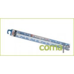 BARRA RECTA EXTENSIBLE 110-200 CROMO MATE - Imagen 1