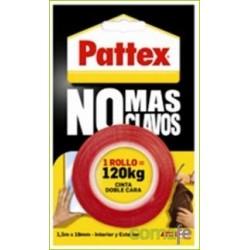 """CINTA DOBLE CARA """"NO MAS CLAVOS"""" ROJA PRECORTADA 1403702 - Imagen 1"""